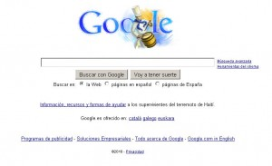 Google con logotipo de Tamborrada