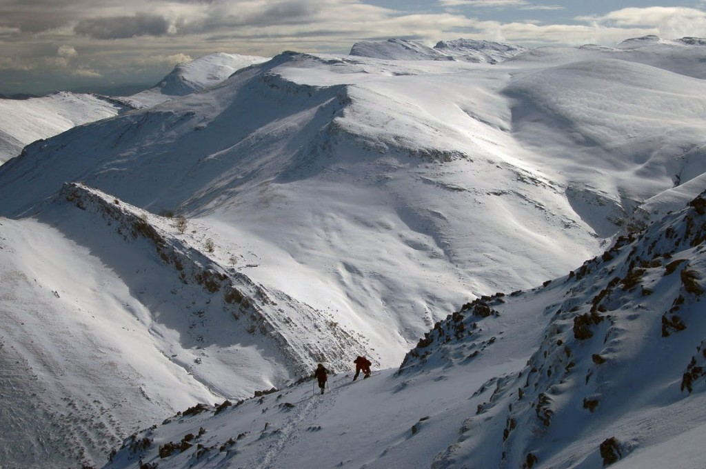 Vista de la sierra de Aralar